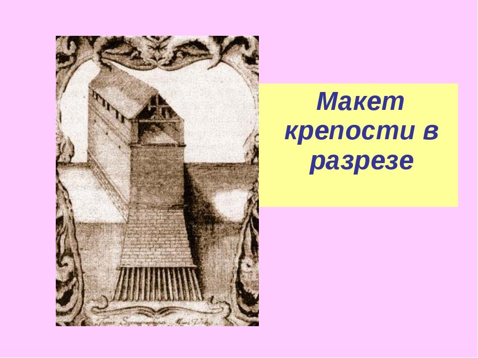 Макет крепости в разрезе