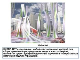 Hidro-Net HYDRO-NETпредставляет собой сеть подземных артерий для сбора, хра