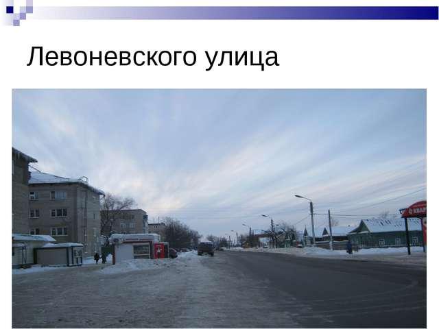 Левоневского улица