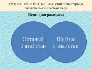 Орталық және Шығыс Қазақстан облыстарына салыстырма сипаттама беру Венн диагр