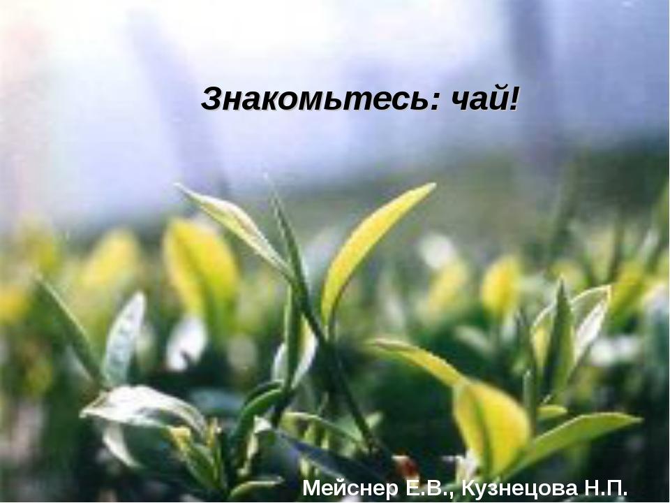 Знакомьтесь: чай! Мейснер Е.В., Кузнецова Н.П.