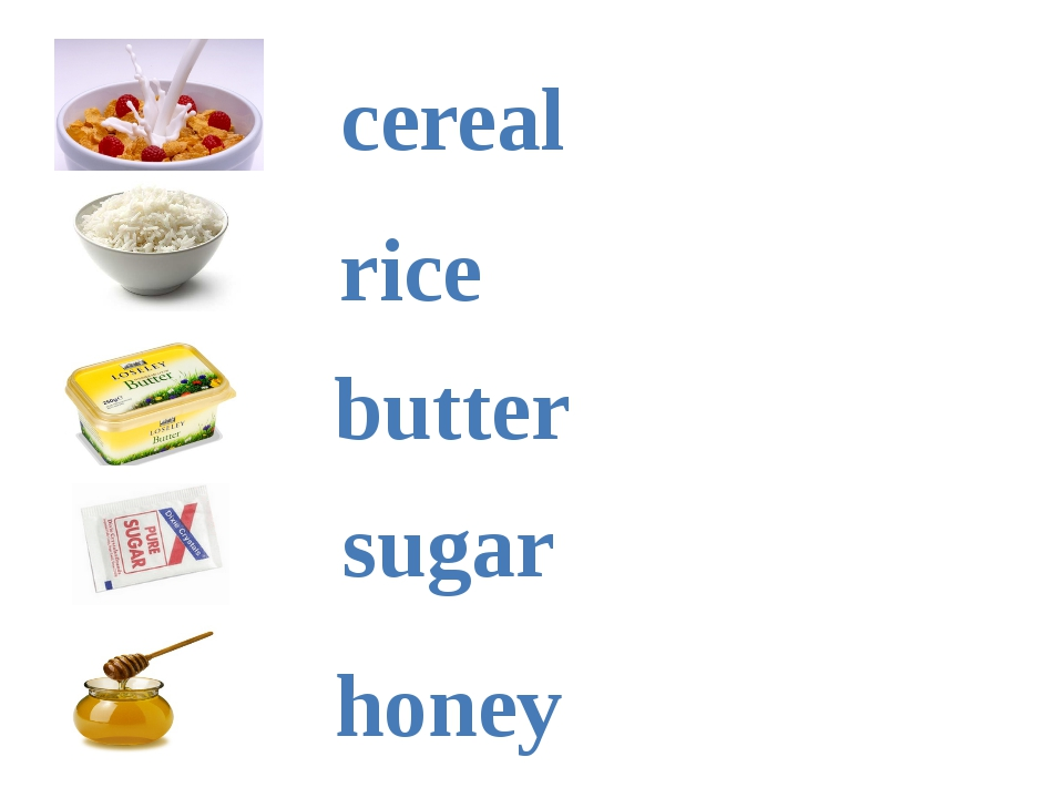 cereal rice butter sugar honey