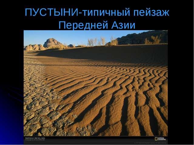 ПУСТЫНИ-типичный пейзаж Передней Азии