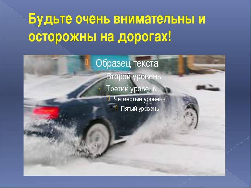 Будьте очень внимательны и осторожны на дорогах!