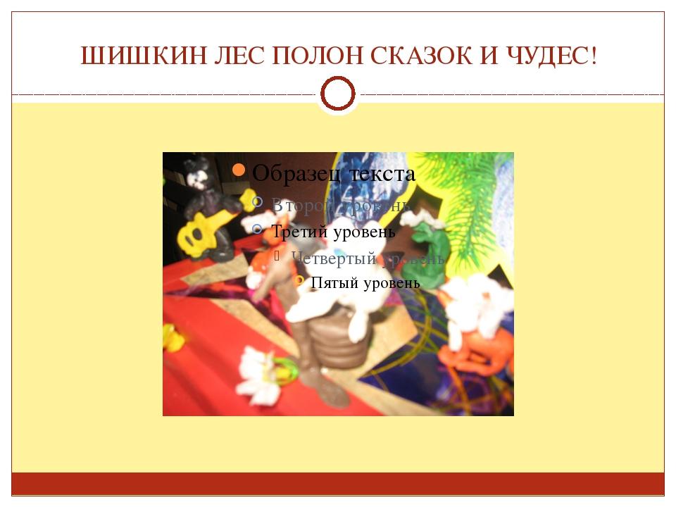 ШИШКИН ЛЕС ПОЛОН СКАЗОК И ЧУДЕС!