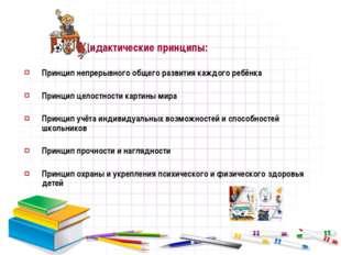 Дидактические принципы: Принцип непрерывного общего развития каждого ребёнка