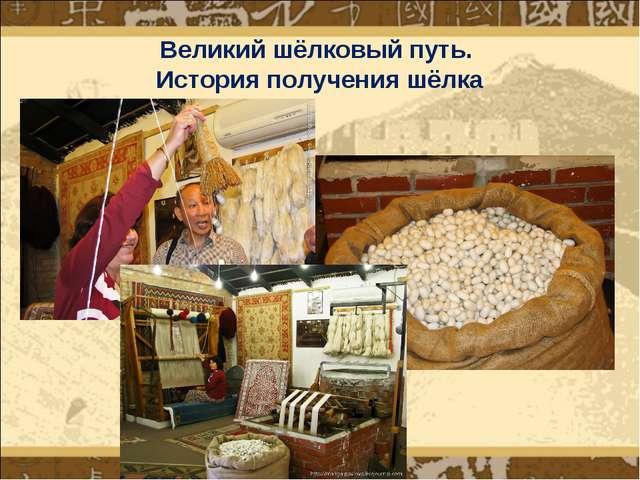 Великий шёлковый путь. История получения шёлка