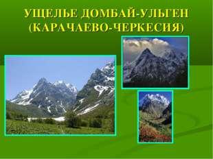 УЩЕЛЬЕ ДОМБАЙ-УЛЬГЕН (КАРАЧАЕВО-ЧЕРКЕСИЯ)