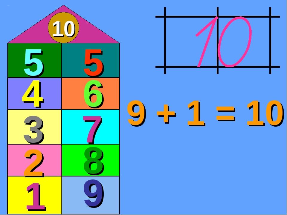 9 + 1 = 10 10 1 9 2 3 7 4 6 5 5 8