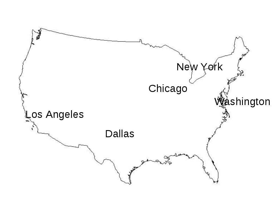 Washington Chicago Dallas New York Los Angeles