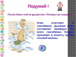 Подумай ! После бани «легче дышится». Почему так говорят? Кожа участвует в га