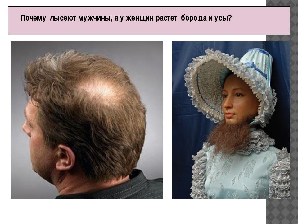 Почему лысеют мужчины, а у женщин растет борода и усы? Причинами роста у жен...