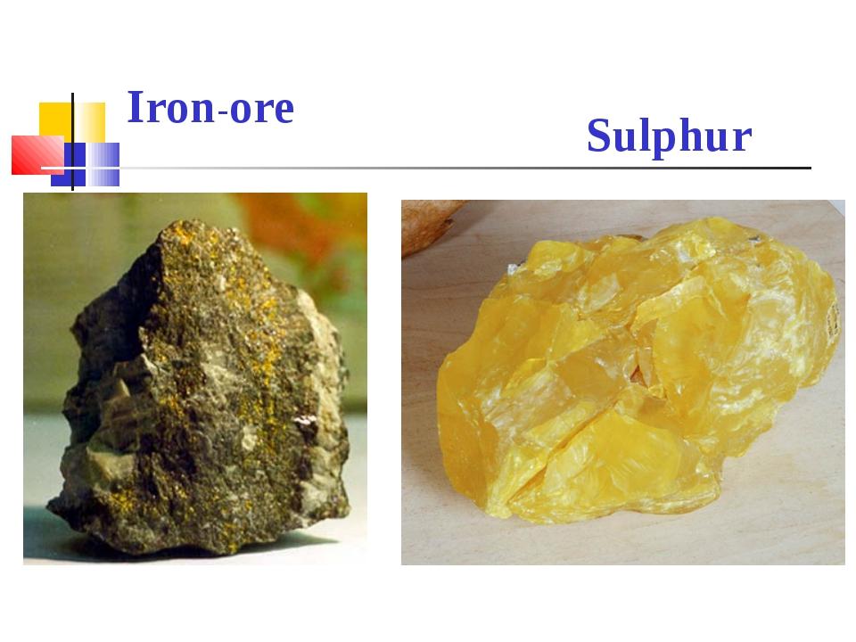 Iron-ore Sulphur