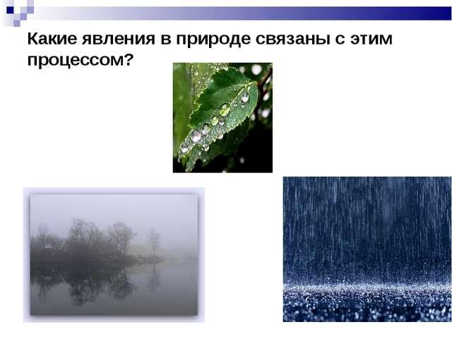Какие явления в природе связаны с этим процессом?