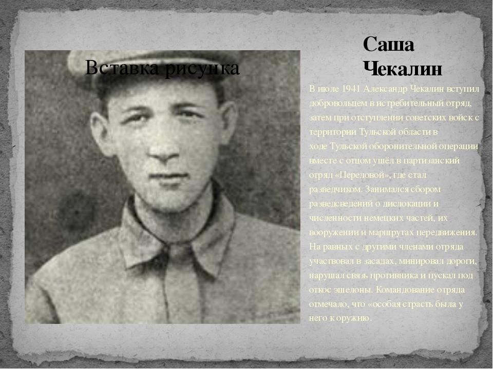 Саша Чекалин В июле1941Александр Чекалин вступил добровольцем в истребитель...