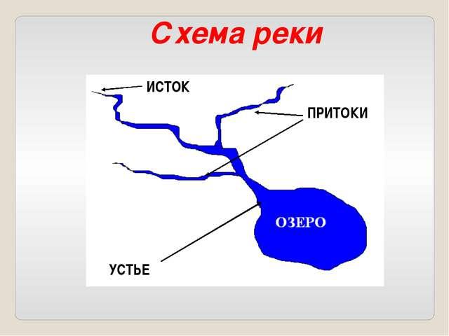 ИСТОК УСТЬЕ ПРИТОКИ Схема реки