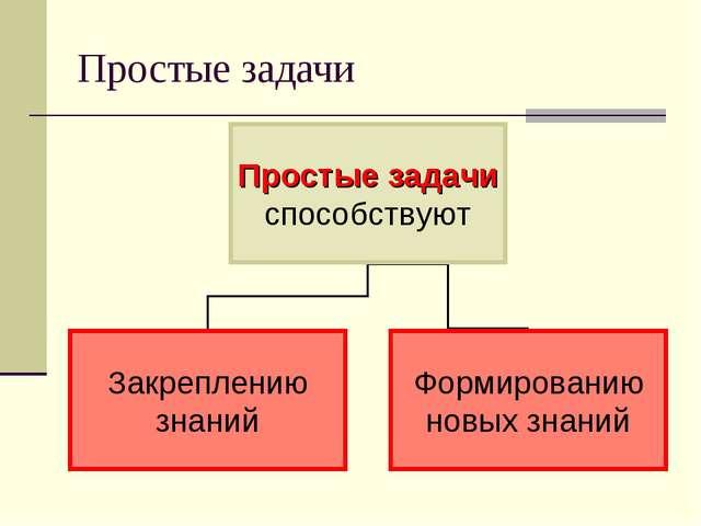 Простые задачи