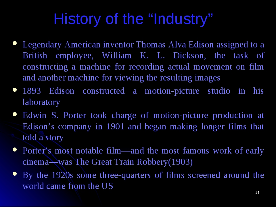 "* History of the ""Industry"" Legendary American inventor Thomas Alva Edison as..."