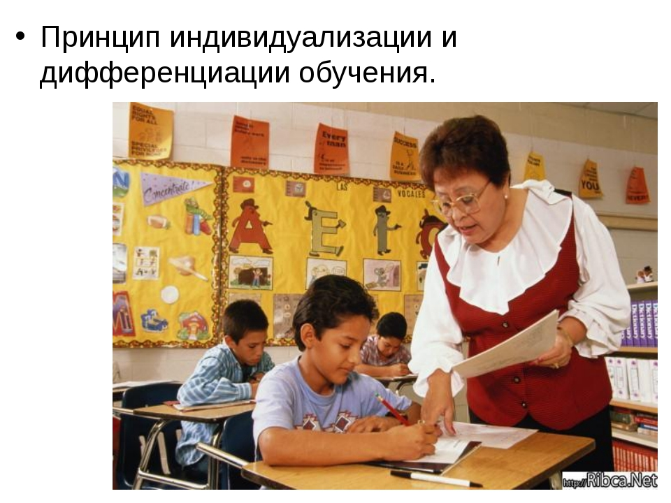 Принцип индивидуализации и дифференциации обучения.