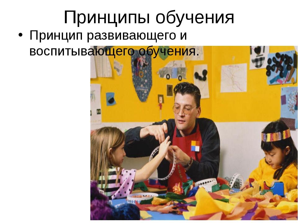 Принципы обучения Принцип развивающего и воспитывающего обучения.
