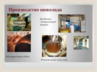 Производство шоколада Обжарка какао-бобов Дробильно-сортировочная машина Кон