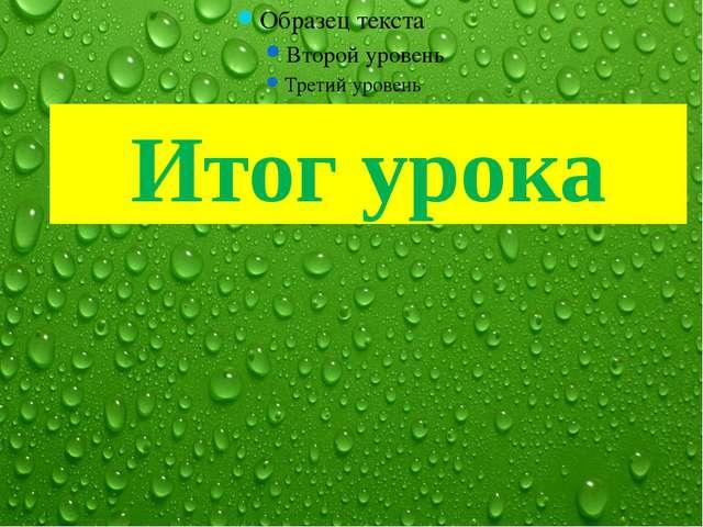 Итог урока FokinaLida.75@mail.ru