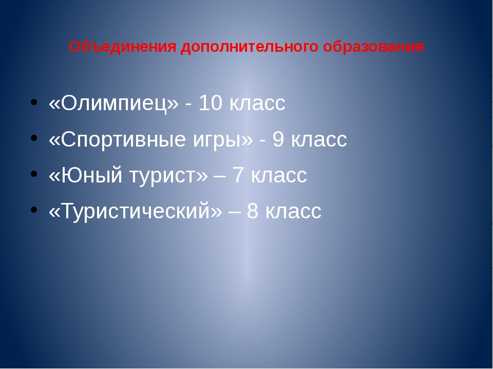Объединения дополнительного образования «Олимпиец» - 10 класс «Спортивные игр...