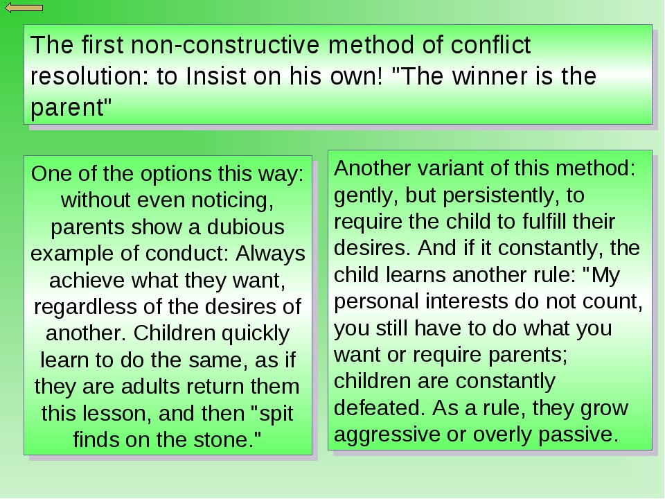 resolution of the conflict essay