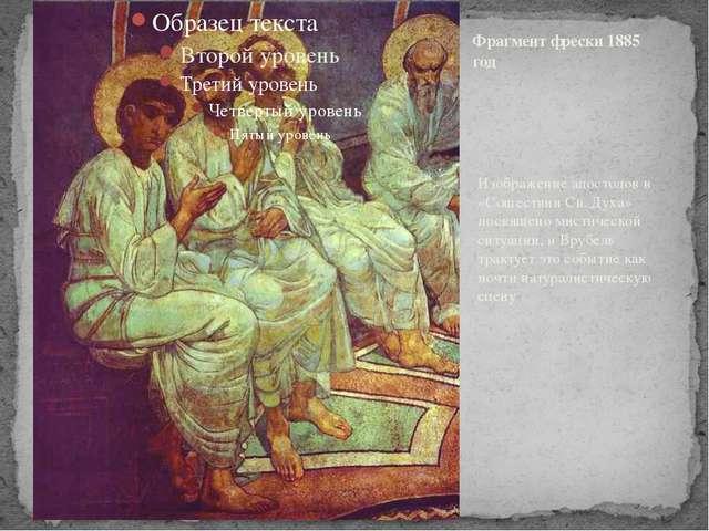 Изображение апостолов в «Сошествии Св. Духа» посвящено мистической ситуации,...