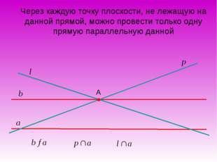 Через каждую точку плоскости, не лежащую на данной прямой, можно провести тол