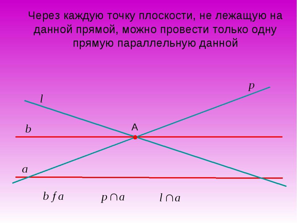 Через каждую точку плоскости, не лежащую на данной прямой, можно провести тол...