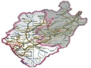 Карта Эхирит-Булагатского и Баяндаевского районов