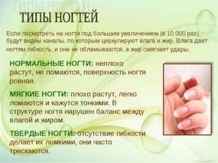 Если посмотреть на ногти под большим увеличением (в 10 000 раз), будут видны