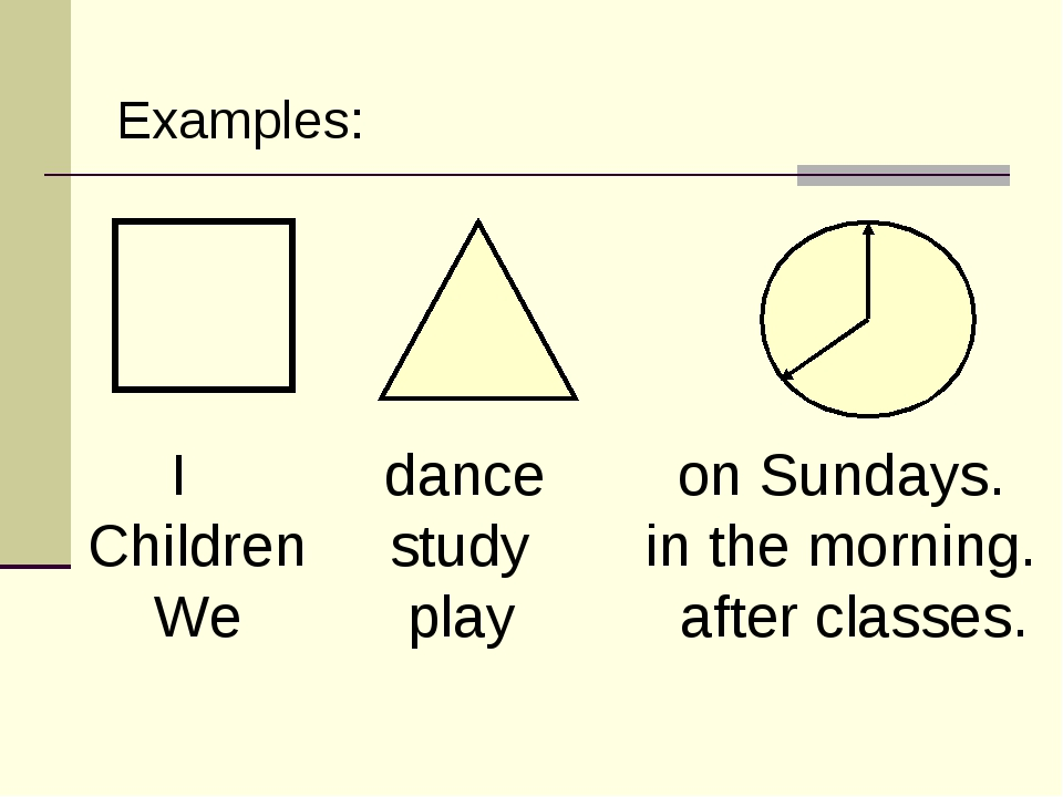 I dance on Sundays. Children study in the morning. We play after classes. Ex...