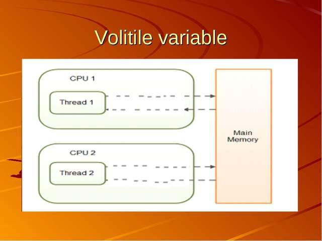 Volitile variable
