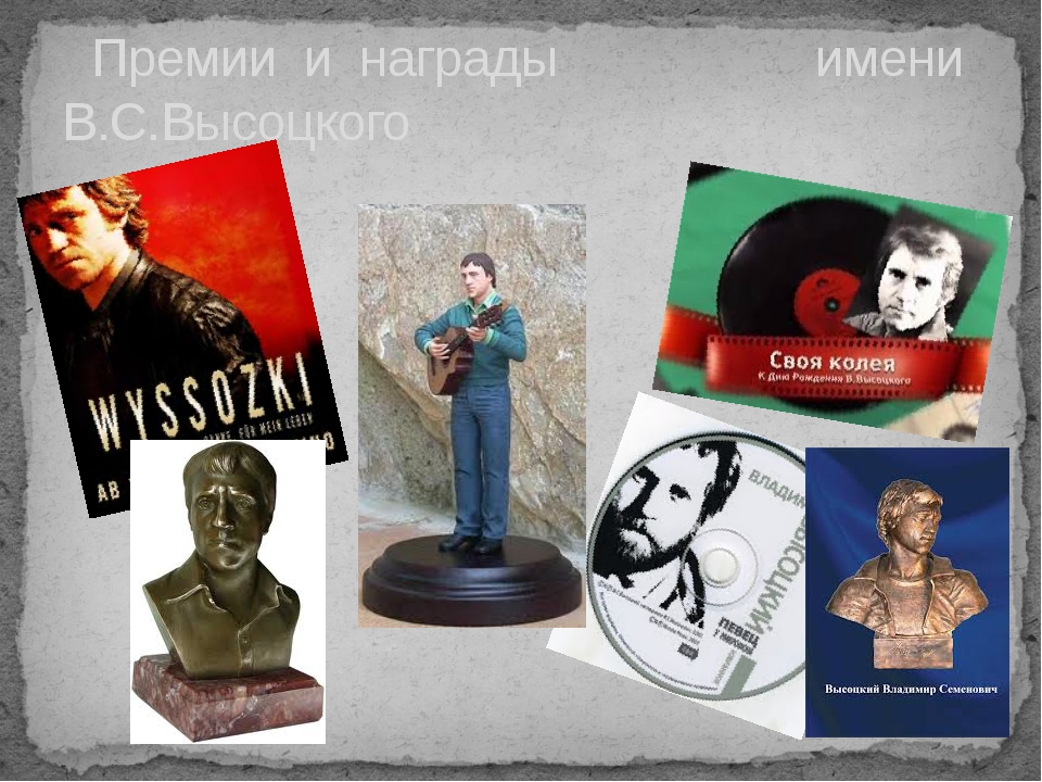 Премии и награды имени В.С.Высоцкого