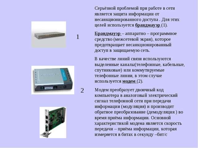 1 2 Серьёзной проблемой при работе в сети является защита информации от неса...
