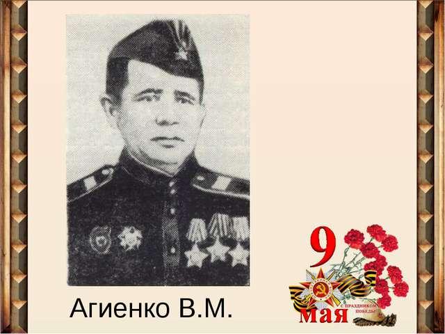 Агиенко В.М.