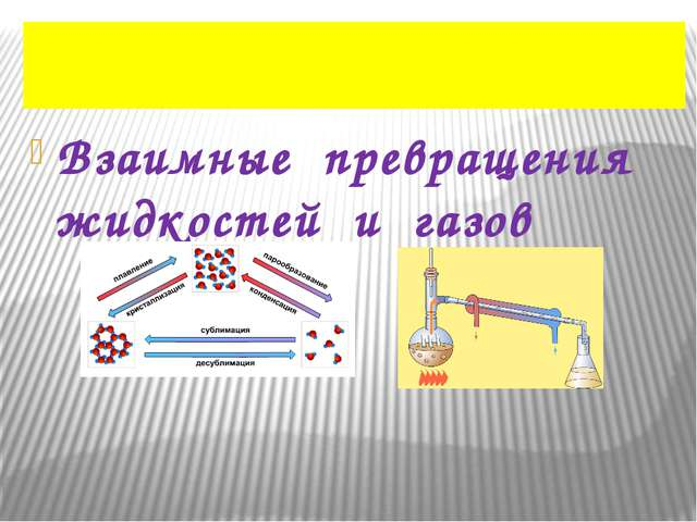 Взаимные превращения жидкостей и газов