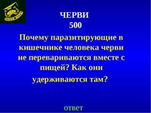 ЧЕРВИ 500 Почему паразитирующие в кишечнике человека черви не перевариваются