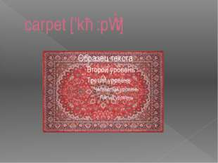 carpet ['kɑ:pɪt]