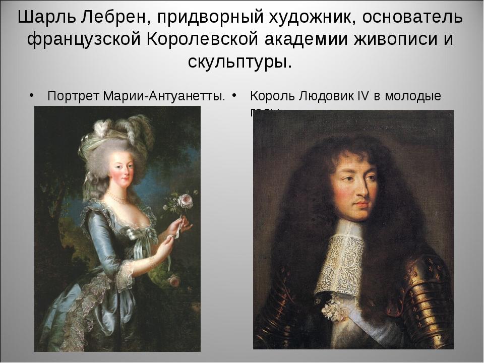 Шарль Лебрен, придворный художник, основатель французской Королевской академи...