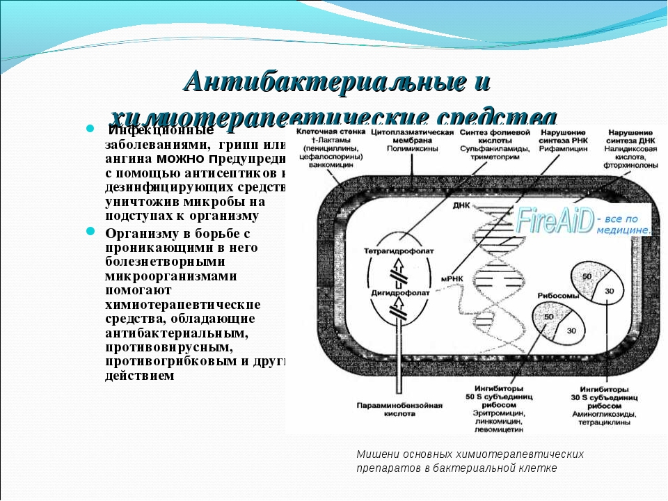 Антибактериальные и химиотерапевтические средства Инфекционные заболеваниями...