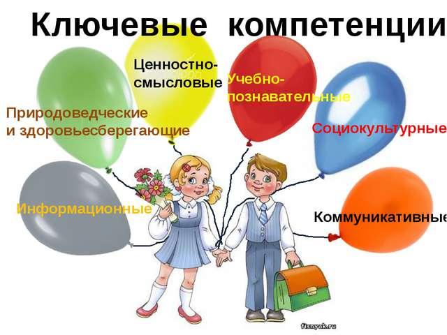 Ценностно- смысловые Учебно- познавательные Социокультурные Природоведческие...