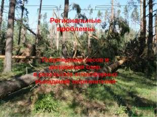 Региональные проблемы. Повреждение лесов и деградация озер в результате атмос