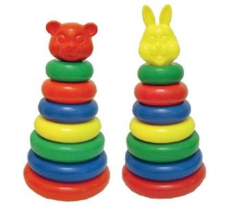 Остальные игрушки-Пирамида большая (мультик) 43 - 45см (Россия) - купить детские игрушки через интернет в Москве