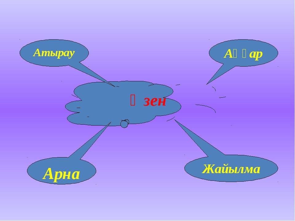 Өзен Атырау Аңғар Арна Жайылма
