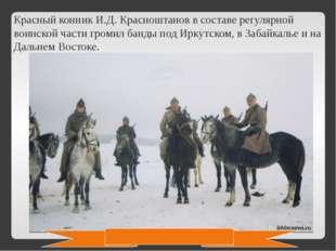 Красный конник И.Д. Красноштанов в составе регулярной воинской части громил б