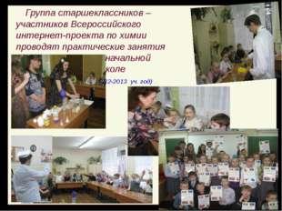Группа старшеклассников – участников Всероссийского интернет-проекта по хими