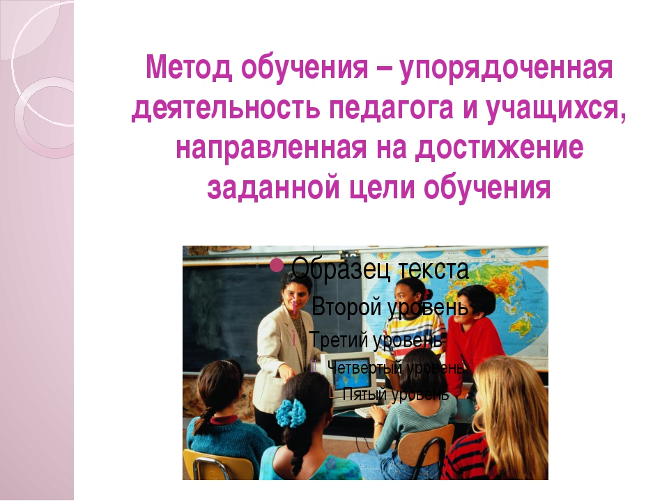 Метод обучения – упорядоченная деятельность педагога и учащихся, направленная...